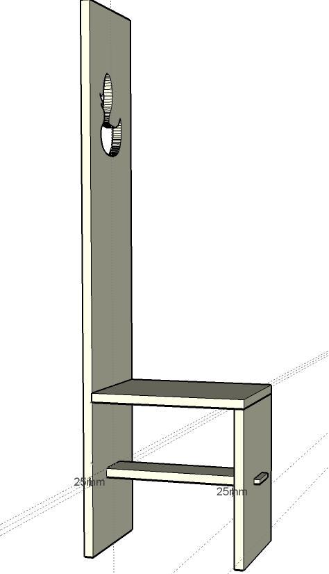 Basic Highback Chair Side