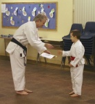 Wayne Being Presented with Yellow Belt. 18-2-05